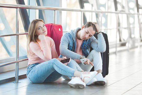 długie czekanie nalotnisku